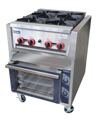 Gas Top Burners with Electric Convection Oven – RB4-TD3NE