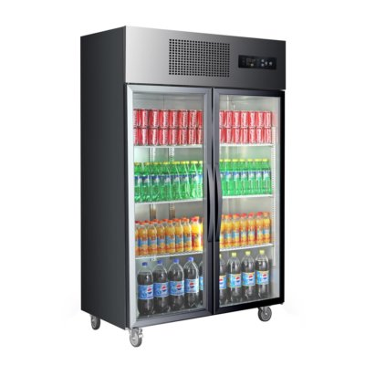 SUCG1000B Double Door Upright Display Fridge (Black)