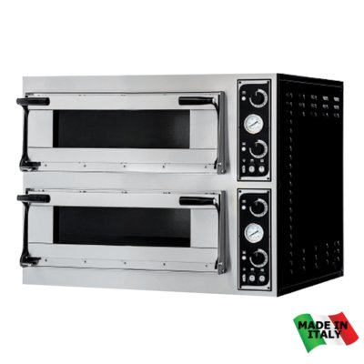 TP-2-SD  Pizza Ovens Double  Deck – 400V; 3~N; 20.4kW – Pizza Capacity: 16 x 30cm or 12 x 35cm
