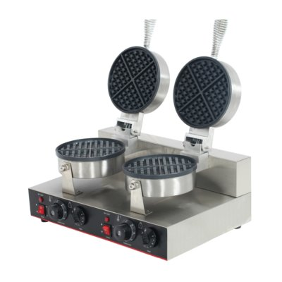 Double Plate Round Waffle Maker – TWB-2KW