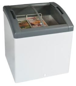 Curved Top Display Freezer – 113 Litres