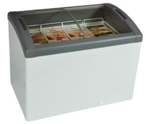 Curved Top Display Freezer – 193 Litres