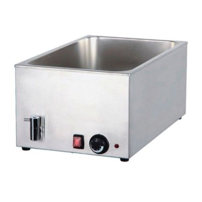 CookRite Bain Marie with Mechanical Controller and Drain 580x340x245