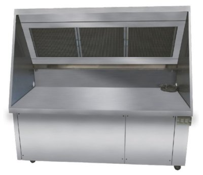 SimcoHood Ductless Exhaust Hood System 620 mm-W 1800mm x D 750mm X H 1400mm