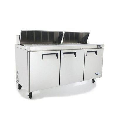 Atosa 3 Door Sandwich Prep Table Refrigerator 1846mm – Fits 9 x 1/3 pans