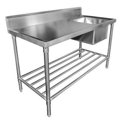 MixRite Sink Bench with Splashback – W900 x D600 x H900 – Bowl size 450x450x300mm