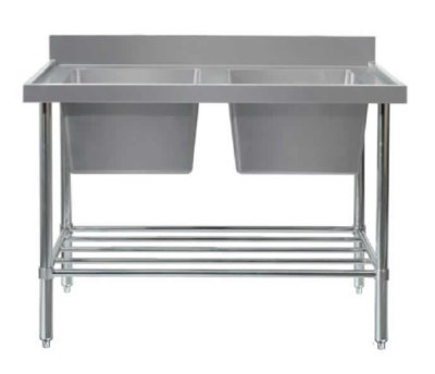 MixRite Double Sink Bench – W2100 x D600 x H900 – Bowl size 450x450x300mm