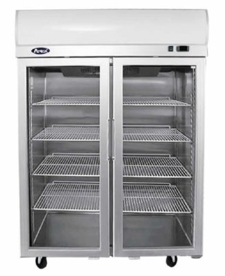 Atosa Top Mounted Double Door Glass Freezer