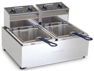 Roband Double 8L Pan 2 Basket Counter Top Fryer – 2 x 15 Amps