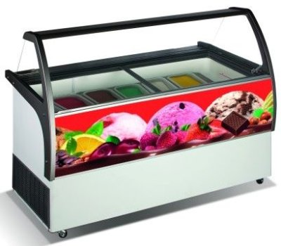 Gelato Display – Fits 9 x 5Lt Tubs