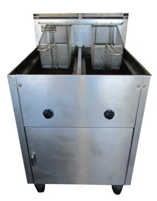 Waldorf Gas Deep Fryer – Twin Pans