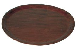 Round Wood Tray – Mahogany 370mm