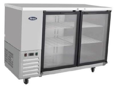Atosa Refrigerated Back Bar Cooler with Two Glass Doors – 365L