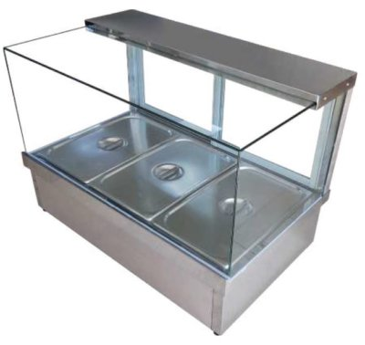 MixRite Hot Food Display 6 x 1/2 pans
