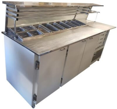 VIP Refrigerated Pizza Bar – Used