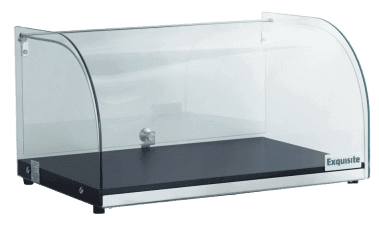 CD25 – Curved Glass Ambient Counter Top Display Cabinet
