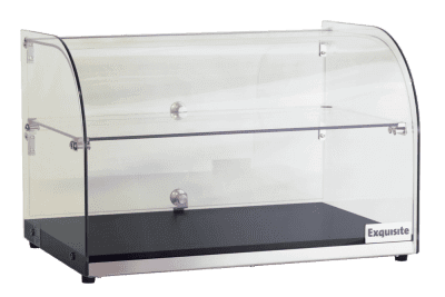 CD45 Curved Glass Ambient Counter Top Display Cabinet