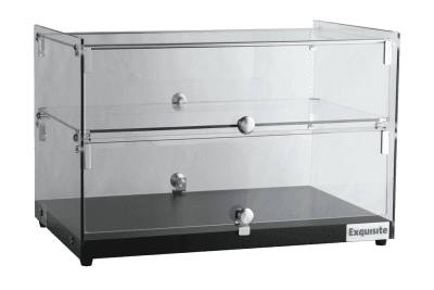 CD50 Square Glass Ambient Counter Top Display Cabinet