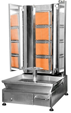 Delux Angled 4 Burner Kebab Machine – Gas