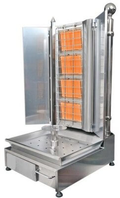Economy Angled 4 Burner Kebab Machine – Gas