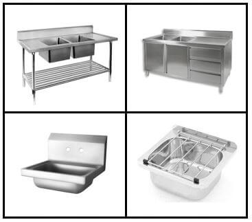 S19: Wash Sinks - Hand Basins - Mop Sinks - Dishwasher Inlet/Outlet Sinks - Sink cabinets