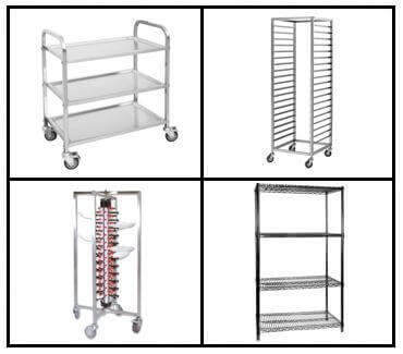 S26: Upright Shelving - Trolleys - Racks