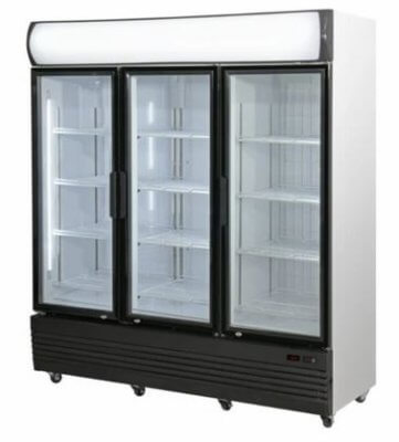Combined Fridge & Freezer Triple Door Upright Glass Door  LG-1500GEF