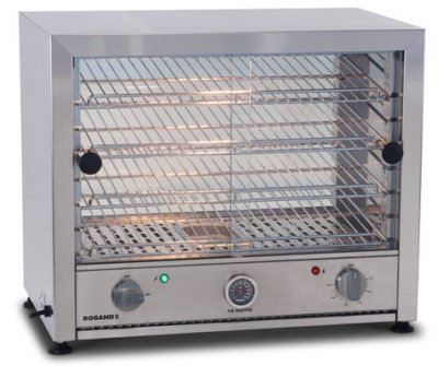 Pie warmer, glass doors single side and internal light – 50 Pie
