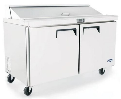 Atosa 2 Door Sandwich Prep Table Refrigerator 1530 mm – Fits 8 x 1/3 Pans