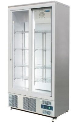 Sliding Door Upright Display Fridge 490Ltr