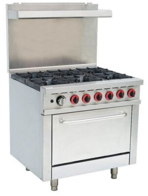 GBS6T Gasmax 6 Burner With Oven Flame Failure