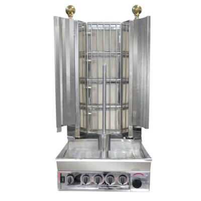 KMB4ELPG Semi-automatic Kebab Machine LPG Gas 4 Burner