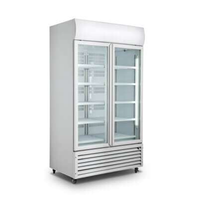 Double Glass Door Colourbond Upright Drink Fridge – LG-1200GT