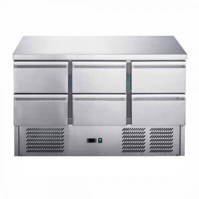 FED-X Six Drawer Compact Workbench Fridge – XGNS1300-6D