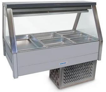 Roband Straight Glass Refrigerated Display Bar – 6 x 1/2 Pans