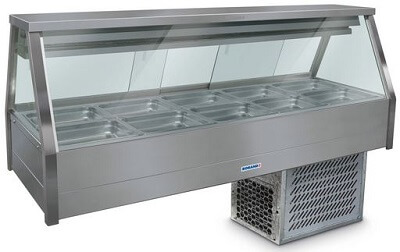 Roband Straight Glass Refrigerated Display Bar – 10 x 1/2 Pans