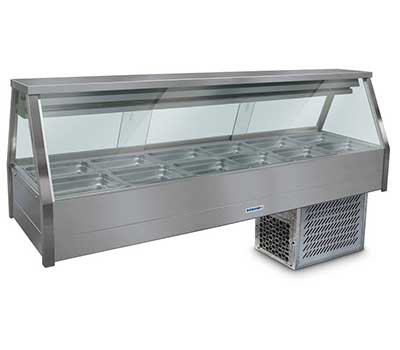 Straight Glass Refrigerated Display Bar – 12 x 1/2 Pans