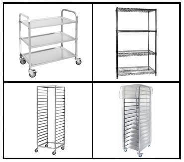 S26: Upright Shelving - Trolleys - Racks