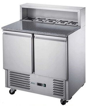 Two Door Salad Prep Fridge with Marble Top – XGNS900E