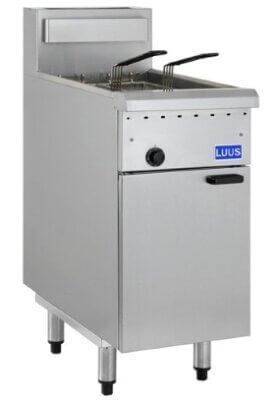 LUUS FG-40 – 2 Baskets 1 Pan Gas Deep Fryer