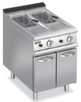 BARON 10+10L Split Pot Gas Deep Fryer With Piezo Ignition