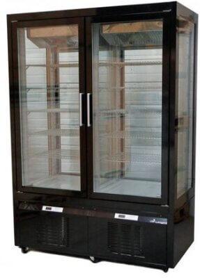 Double Door Gelato Fridge/Freezer Display Black – TEMP RANGE +5°C TO -20°C