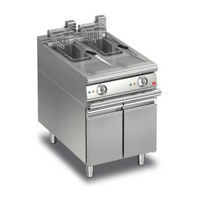 BARON 10+10L Split Pot Electric Deep Fryer