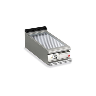 BARON 1 Burner Gas Fry Top With Ribbed Mild Steel Plate