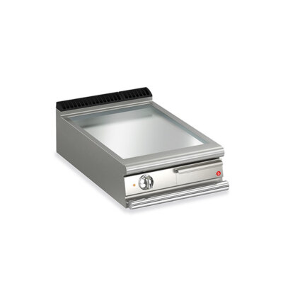 BARON 1 Burner Electric Fry Top With Smooth Chrome Plate And Thermostat Control