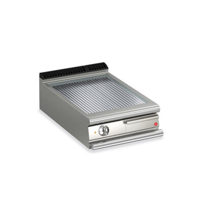 BARON 1 Burner Electric Fry Top With Ribbed Mild Steel Plate And Thermostat Control