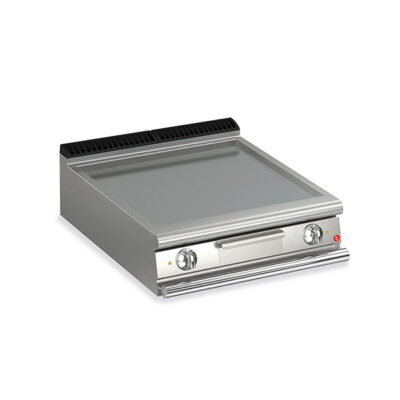 BARON 2 Burner Electric Fry Top With Smooth Mild Steel Plate And Thermostat Control