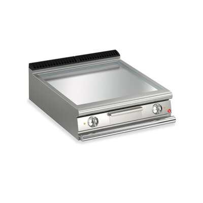 BARON 2 Burner Gas Fry Top With Smooth Mild Steel Plate