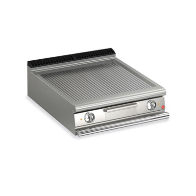 BARON 2 Burner Electric Fry Top With Ribbed Mild Steel Plate And Thermostat Control