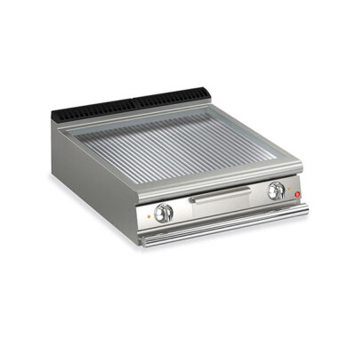 BARON 2 Burner Electric Fry Top With Ribbed Chrome Plate And Thermostat Control